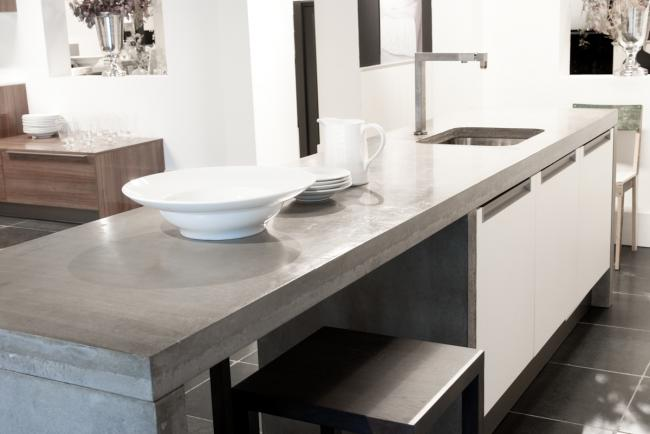 Werkbladen cq aanrechtbladen van beton - Keukenmontagebedrijf ...